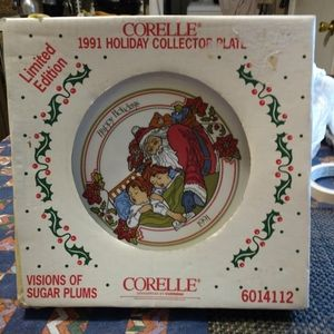 Vintage 1991 Correlle Holiday Collector Plate